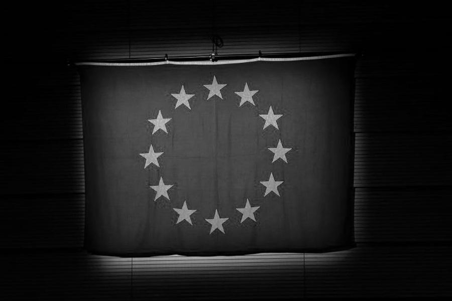 Union Europea bandera la-tinta