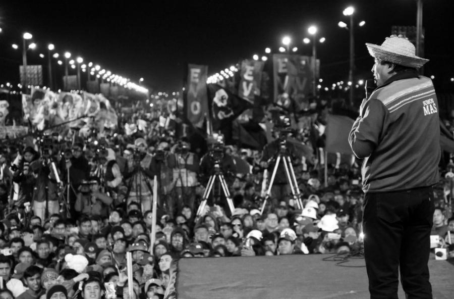 Bolivia Evo Morales acto campaña Santa Cruz la-tinta