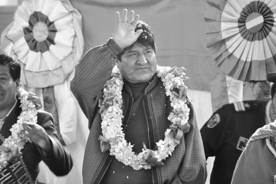 Bolivia Evo Morales acto de campaña la-tinta