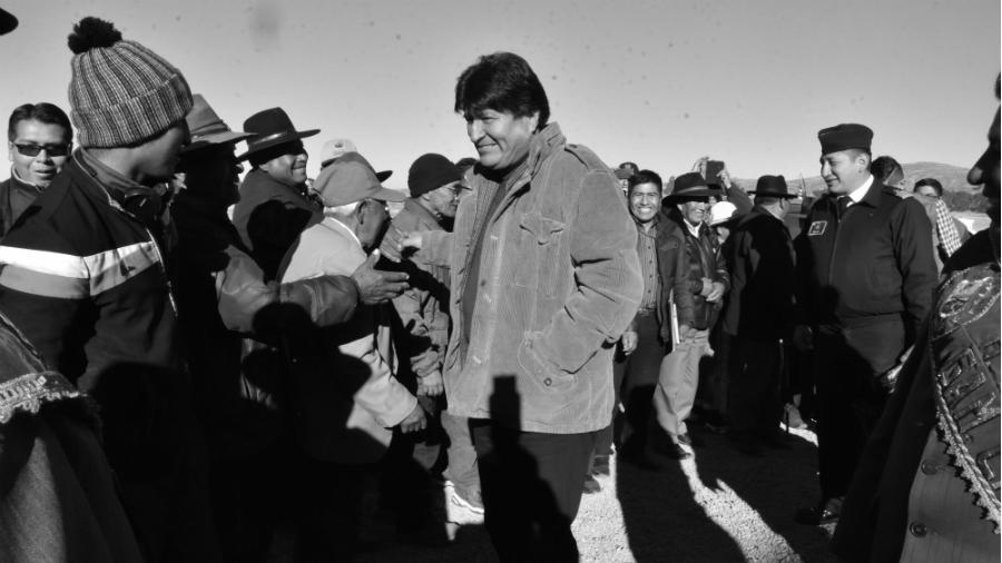 Bolivia Evo Morales campaña electoral la-tinta