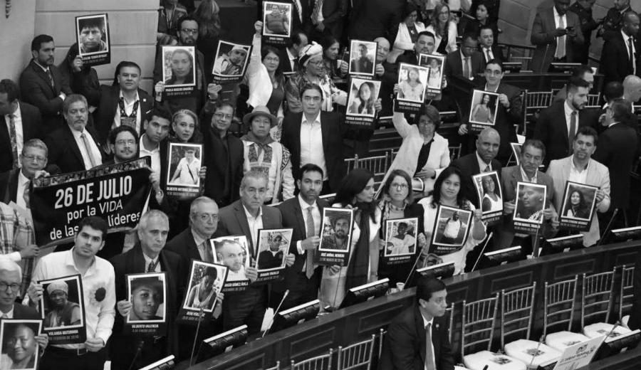 Colombia diputados contra asesinato de lideres sociales la-tinta