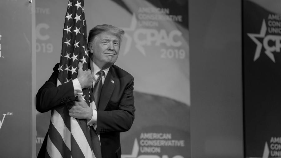 Estados Unidos Donald Trump bandera la-tinta