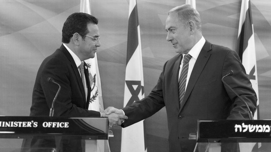 Guatemala Jimmy Morales Benjamin Netanyahu la-tinta