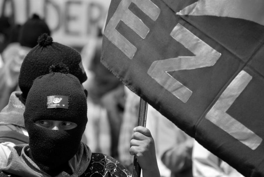 Mexico EZLN bandera la-tinta