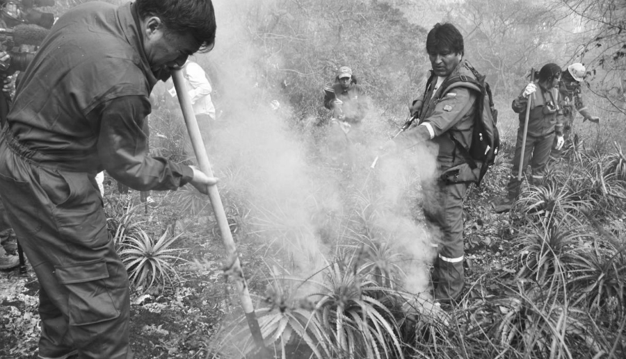 Bolivia Evo Morales incendio Amazonia la-tinta