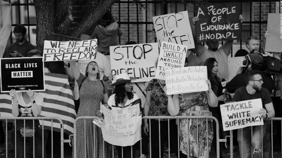 Estados Unidos protestas contra Trump la-tinta