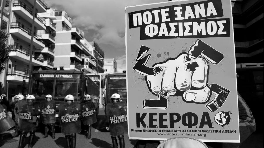 Grecia antifascismo policia la-tinta
