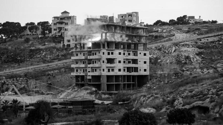 Palestina barrio demolido por Israel la-tinta