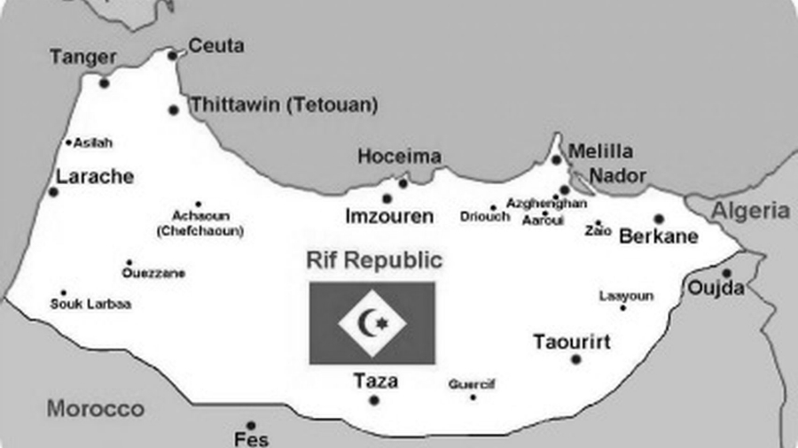 Rif Marruecos mapa