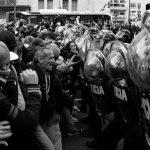 Tras la represión, acampe frente a Desarrollo Social