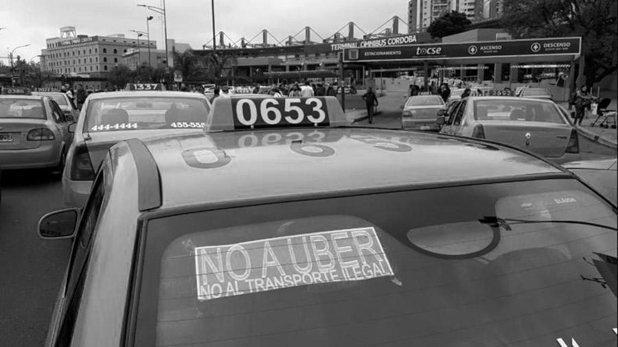 uber protestas taxis