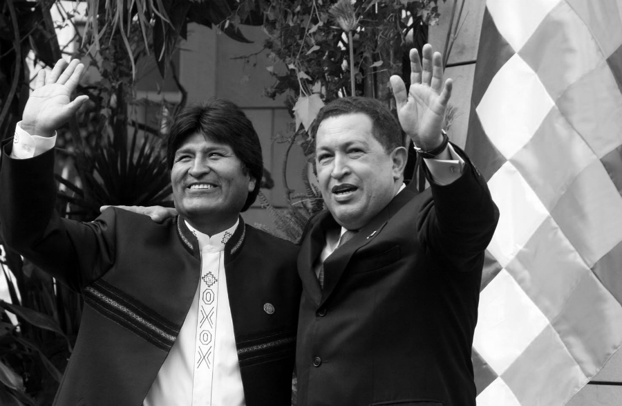 America Latina Evo Morales Hugo Chavez la-tinta