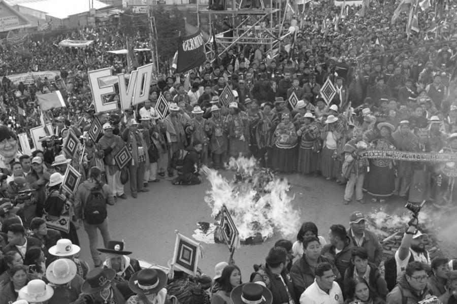 Bolivia campaña electoral Evo la-tinta