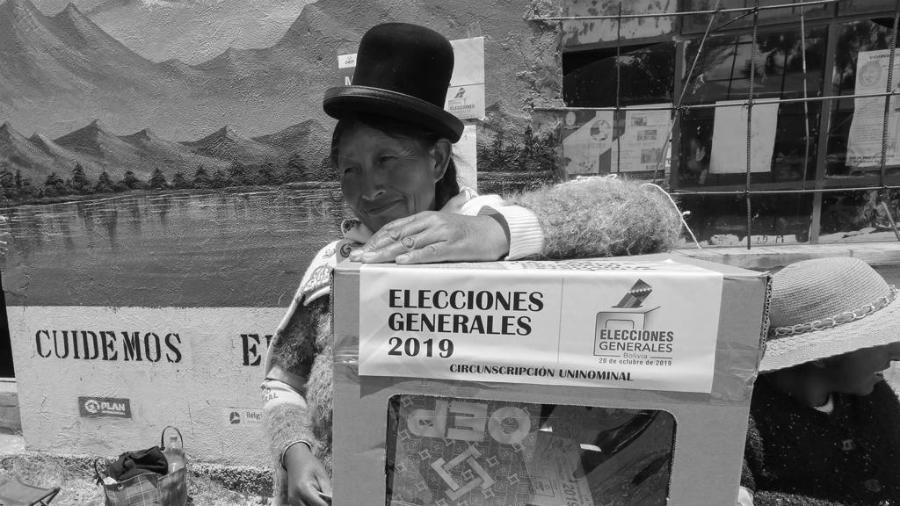 Bolivia centro de votacion la-tinta