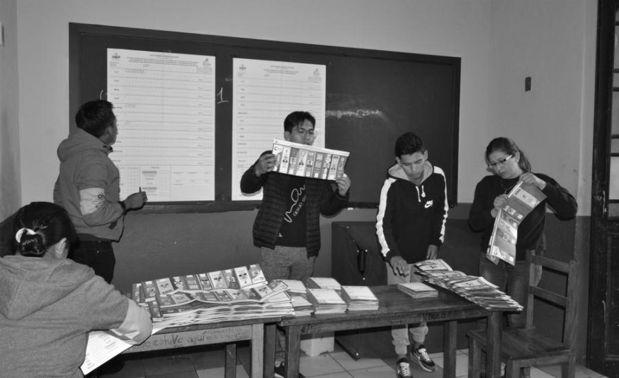 Bolivia conteo de votos la-tinta