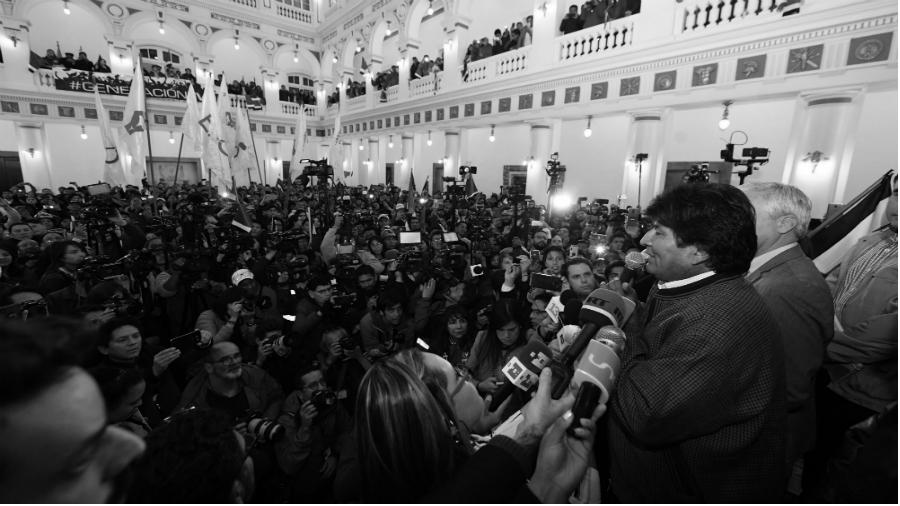 Bolivia elecciones Evo Morales Palacio Quemado la-tinta