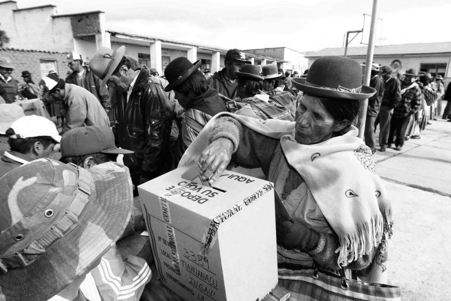 Bolivia mesas de votacion la-tinta