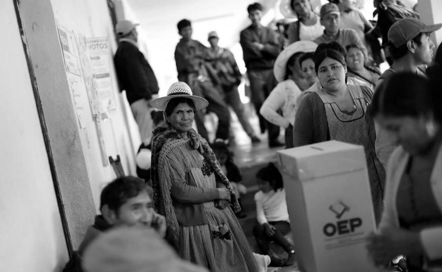 Bolivia mujeres votando 2019 la-tinta