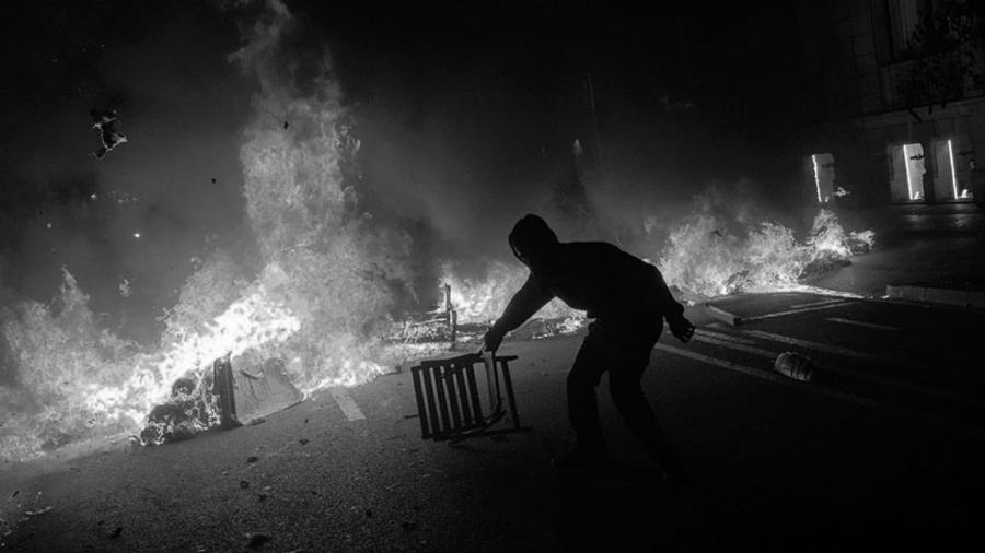 Cataluña barricadas la-tinta