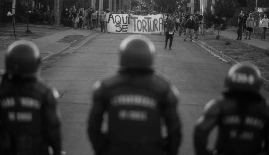 Chile movilizacion policias la-tinta