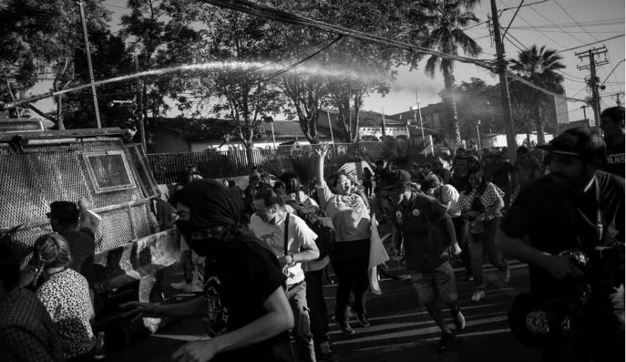 Chile represion al pueblo la-tinta