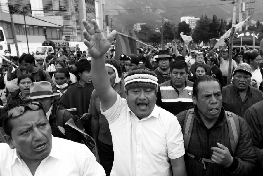 Ecuador indigenas huelga general la-tinta
