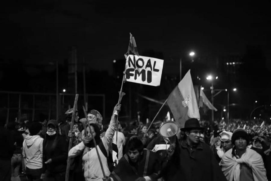 Ecuador movimiento indigena contra el FMI la-tinta