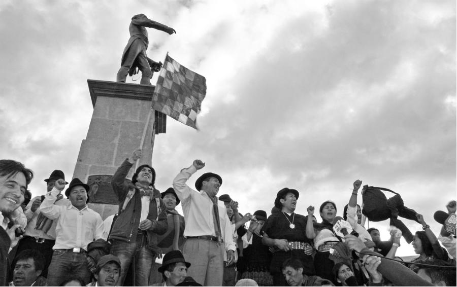 Ecuador moviniento indigena protestas la-tinta