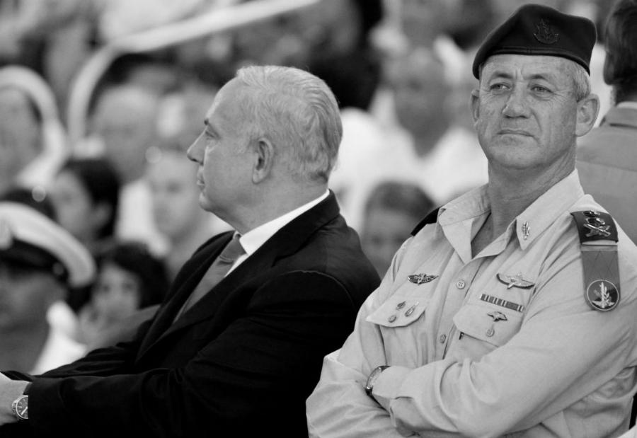Israel Benny Gantz Benjamin Netanyahu la-tinta