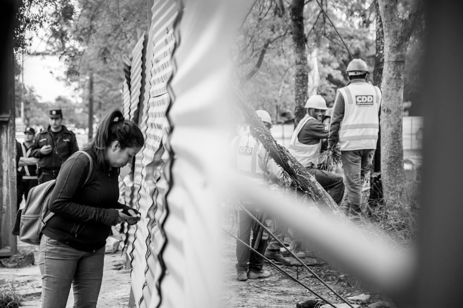 Paraguay Asuncion Jardin Botanico manifestantes la-tinta