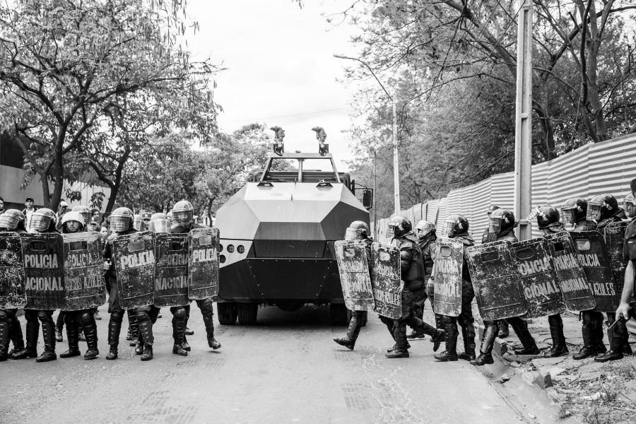 Paraguay Asuncion Jardin Botanico policia la-tinta