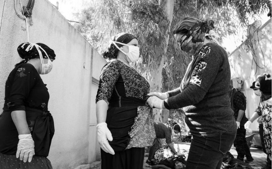 Rojava Tel Tamer Clinica heridos la-tinta