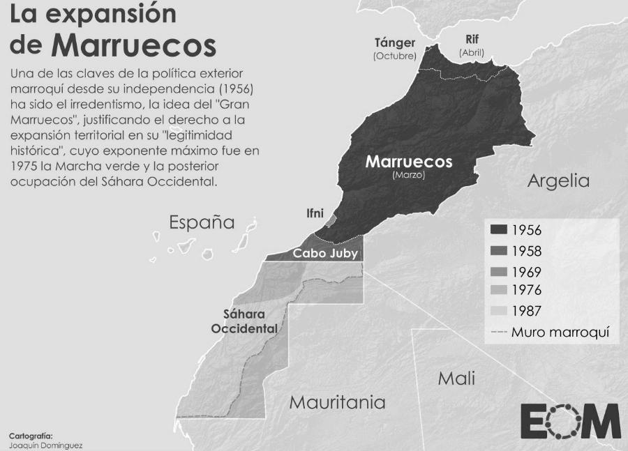 Sahara Marruecos mapa la-tinta