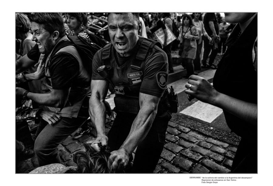 Sergio Goya Represión a artesanos en San Telmo