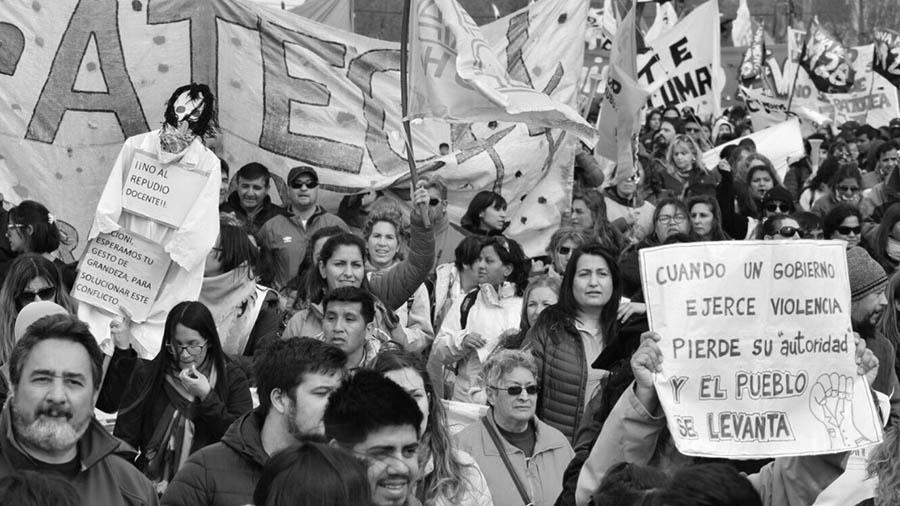 protesta-docente-Chubut educacion