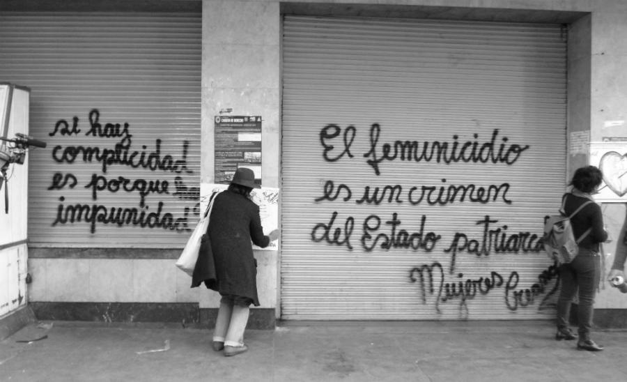 Bolivia Mujeres Creando pintada la-tinta