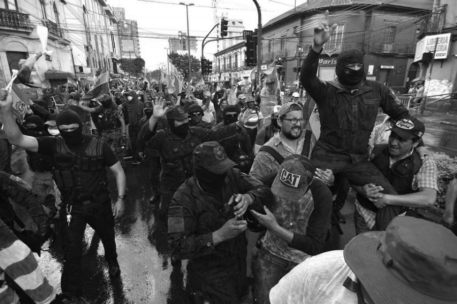 Bolivia golpe de estado policias la-tinta