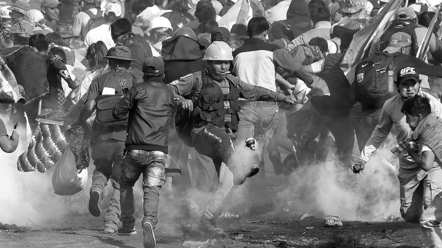 Bolivia manifestantes y represion la-tinta