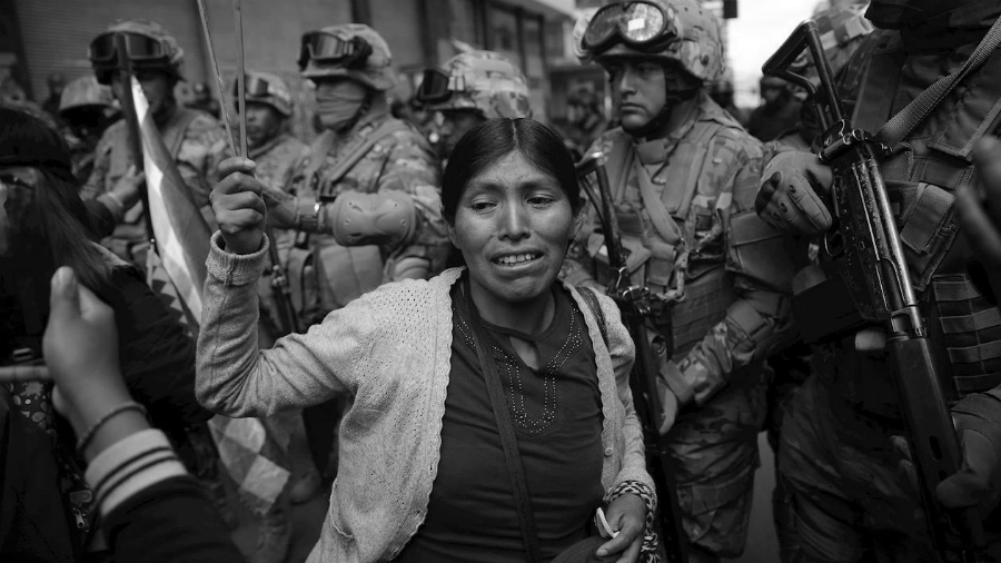 Bolivia mujeres contra la represion la-tinta