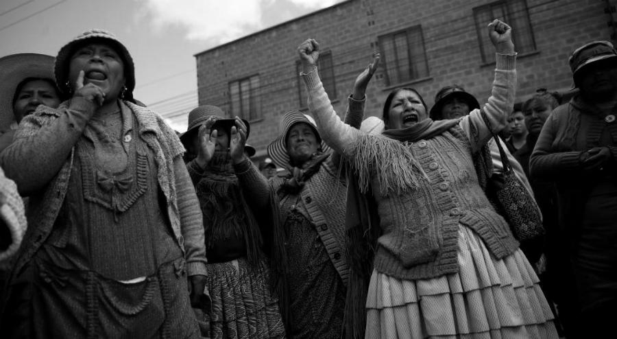 Bolivia protestas la-tinta
