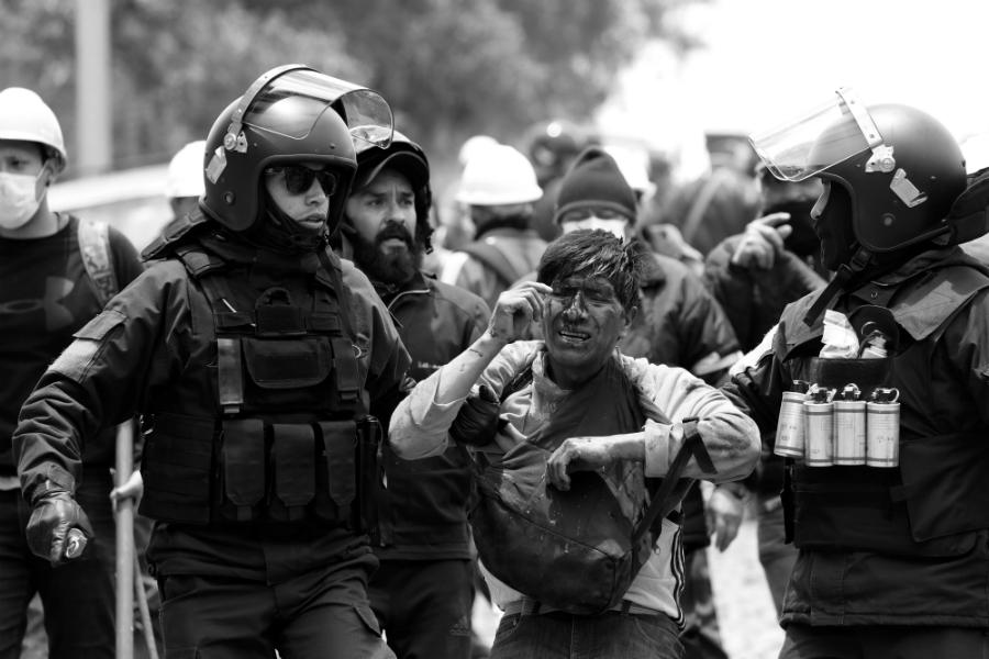 Bolivia represion policial El Alto la-tinta