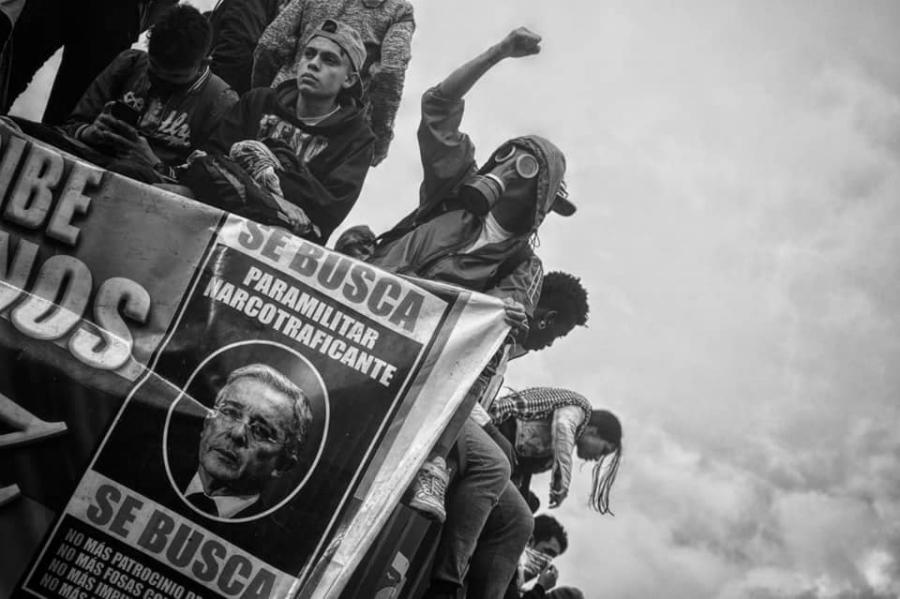 Colombia Paro Nacional Uribe se busca la-tinta