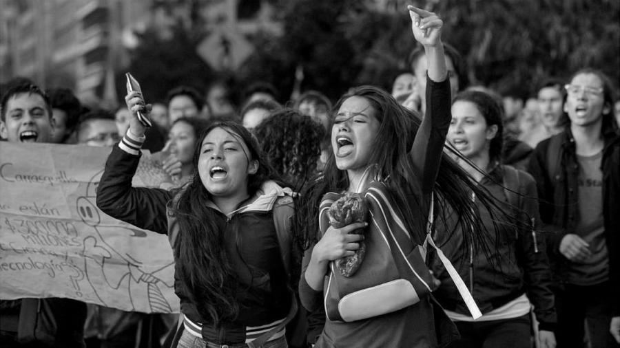 Colombia Paro Nacional mujeres la-tinta