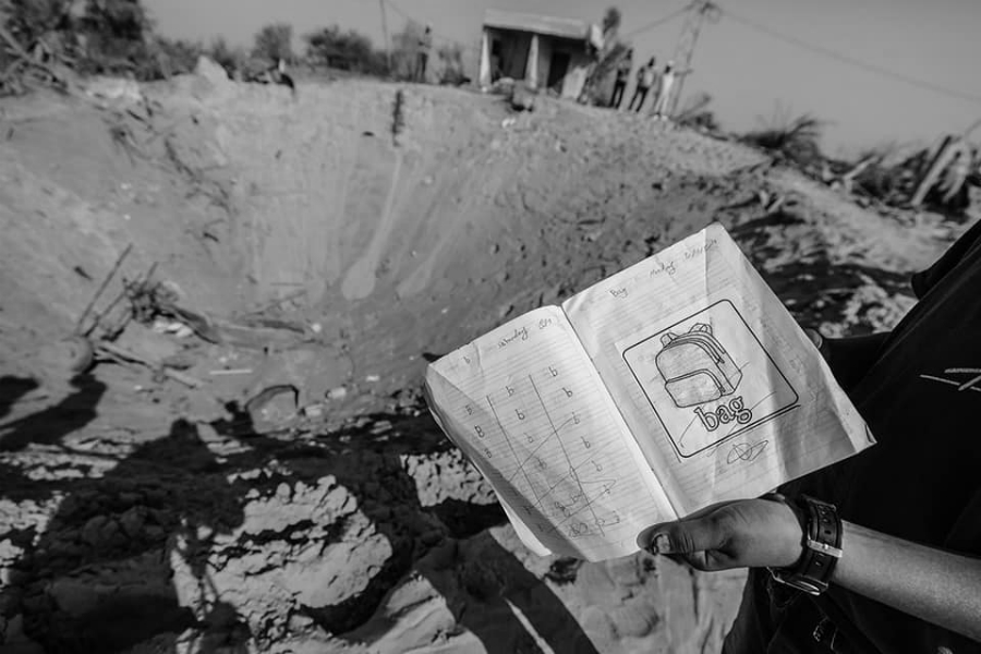 Gaza impacto de bomba la-tinta