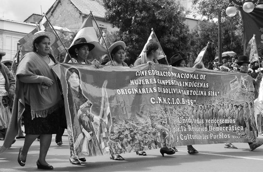 Bolivia confederacion nacional de mujeres la-tinta