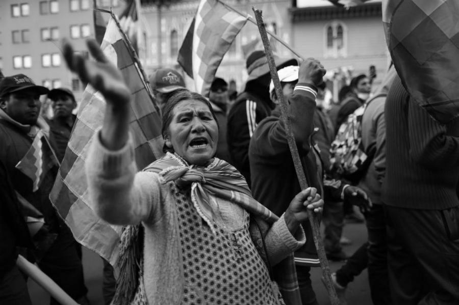 Bolivia manifestantes contra el golpe de Estado la-tinta