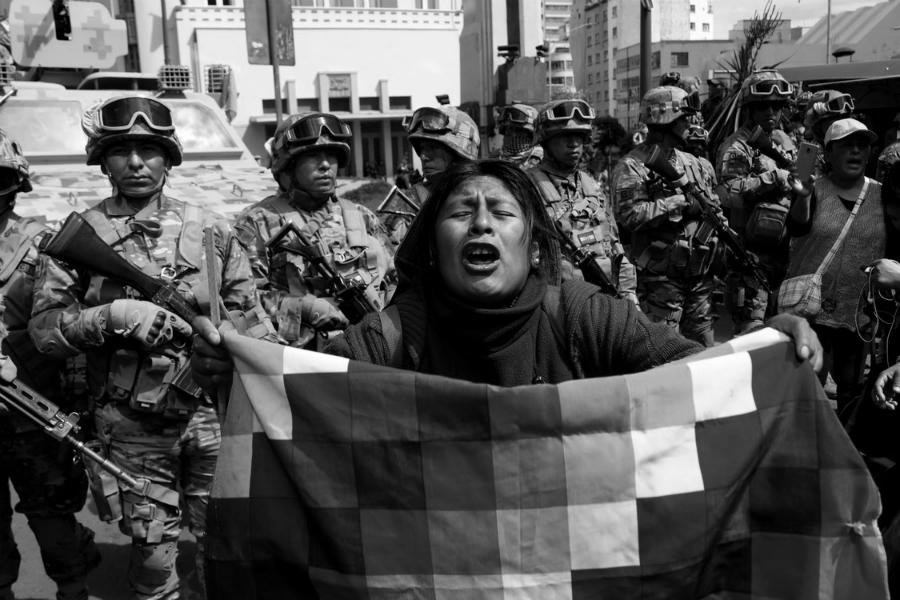 Bolivia mujeres contra el golpe de estado la-tinta
