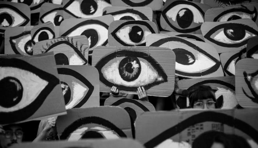 Chile protesta ojos la-tinta