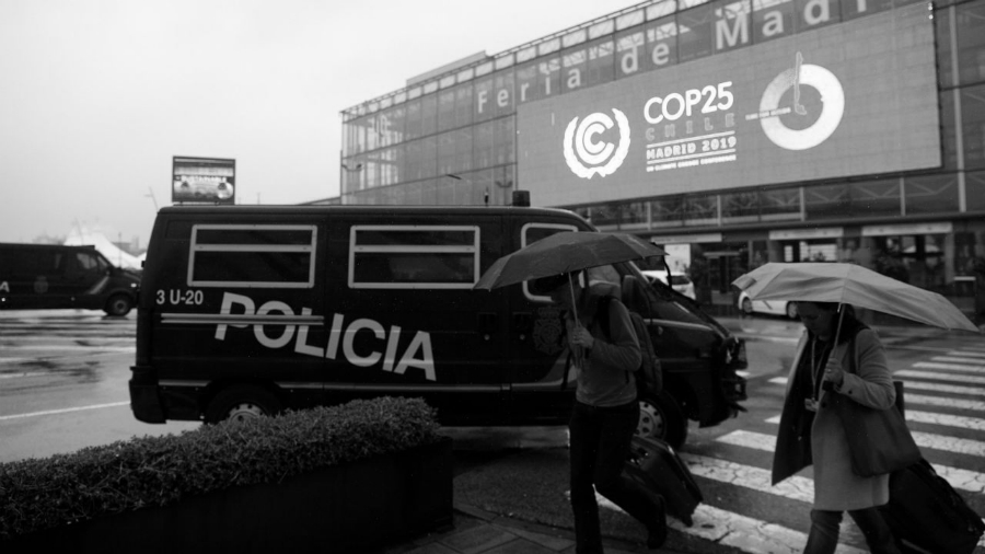 España COP25 policia la-tinta