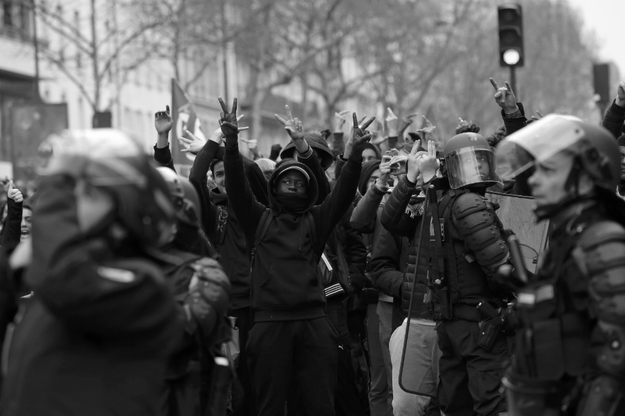 Francia huelga general la-tinta